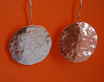 Can't Lose Hammered Silver Earrings