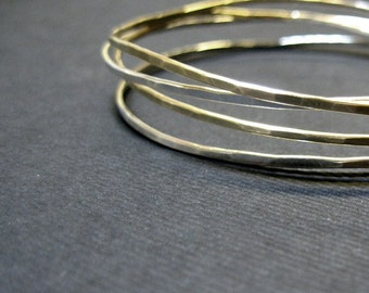 Tangle Bangle 2-tone sterling and gold filled bracelet