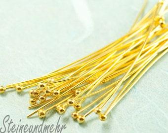 25x Ball pins Ballpin 50mm gilded art. 2339