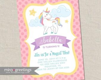 Unicorn Birthday Party Invitation - Printable Digital File