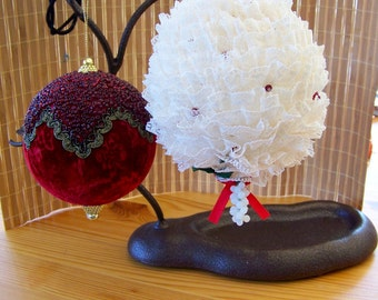 """Vintage 70's """"FOUR LARGE ORNAMENTS"""" So beautiful!"""