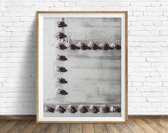 """black and white photography, large art, printable art, instant download printable art, digital download, industrial wall art -""""Rivets No. 3"""""""