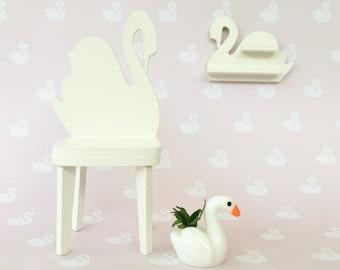 Dollshouse wallpaper - Swan print /modern miniatures /1:12 scale