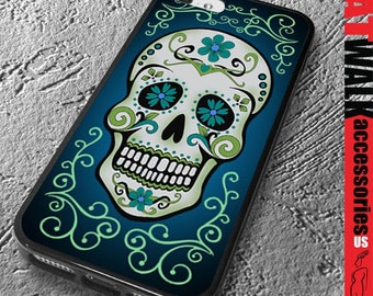 Sugar Skull iPhone Rubber Case. Day of the Dead iPhone 6 Case. Skull Phone case. Día de Muertos Phone Cover. Day of the Dead Accessory.