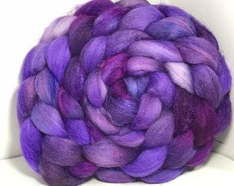 Merino/Baby Alpaca/Tussah 50/30/20 Spinning Fiber - 5oz - Lavender Fields 2