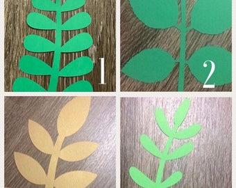 Paper flower leaves