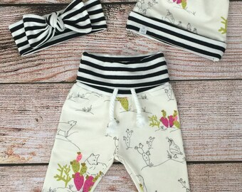 CACTUS AND COYOTE Jogger Style Leggings/ Baby Joggers/ Toddler Joggers