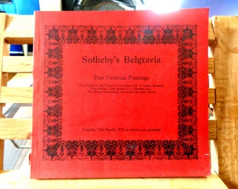 Sotheby's Belgravia Fine Victorian Paintings 1973 Auction Catalogue Guide art reference illustrated Vintage red book with ephemera 478 (X)