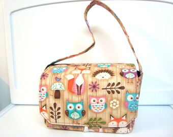 Super Large 6 inch Depth Fabric Coupon Organizer - Woodland Critters