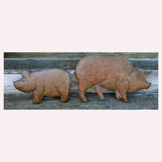 Pair of Copper Pigs from Connecticut Coppersmiths 1988