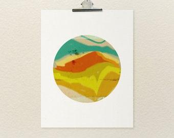 LOMO Shooter No.3 // Abstract Landscape, Modern Minimalist Art Poster Print, Colorful Art Print, Digital Print, Giclee, Wall Art