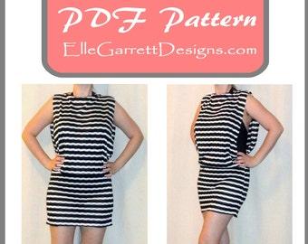 PDF Pattern - Side Split Beach Dress