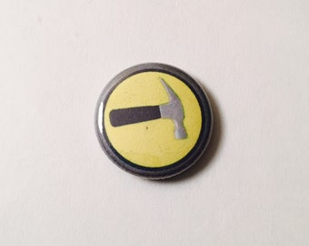 Captain Hammer Emblem Button - 1 inch, Doctor Horrible, Accessory, Comedy