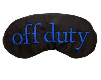 Off Duty Men's Sleep Mask Blue perfect for Police Officers! Guys Eye Mask