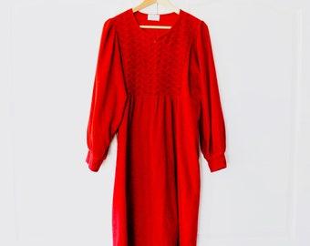 Vintage Vanity Fair L Housecoat Long Robe Velvet
