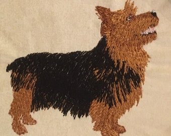 Australian Terrier Fingertip Towel, Custom