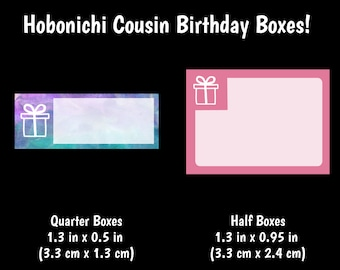 354 | Hobonichi Cousin Birthday Boxes {14+ Fancy Matte or Glossy Planner Stickers}