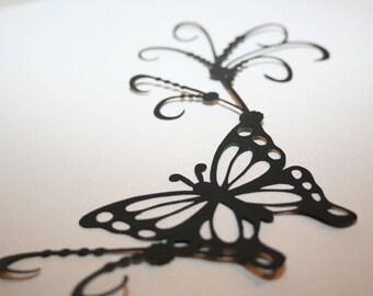 Butterfly Scroll 2- black