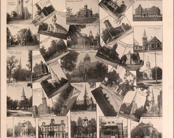 Poster, Many Sizes Available; Views Of Saginaw Michigan 1896