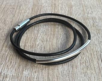 Triple Wrap Leather Bracelet, Bohemian Leather Bracelet, Leather Bracelet, Gift for her, Multi layer leather bracelet LB001274
