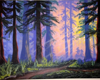 Mystic Forest Painting