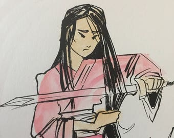 Mulan in watercolor