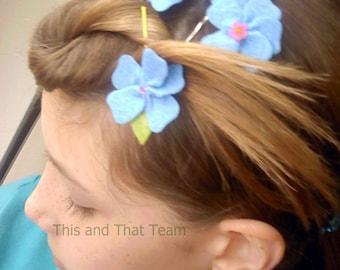 RESERVED FOR  ferncuriosities  Felt Flower Set -