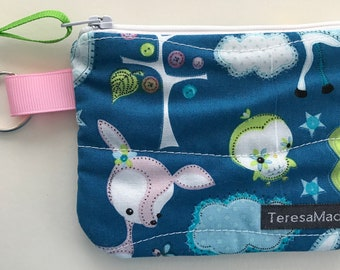 XX-Small Blue Forest Zip Pouch