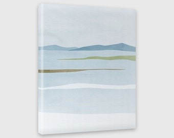 Wall Art Canvas Print, Abstract Landscape, Scandinavian Print, Modern Abstract Art, Minimalist Poster, Winter Landscape