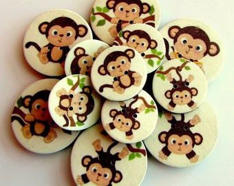 """Cheeky Monkey Buttons 3/4"""" or 1"""""""