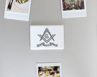 Ceramic Fridge Magnet, Faith Hope Charity Theological Virtues New Testament Christian, Funny Fridge Magnets, Refrigerator Magnet, FM141