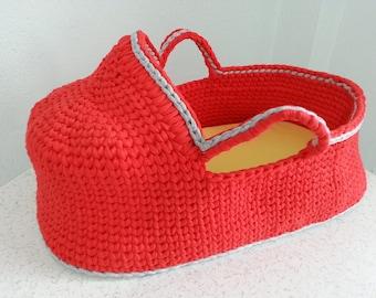 Crochet Baby Moses Basket, Baby bassinet, Crochet basket, Baby basket, baby carrier Eco friendly
