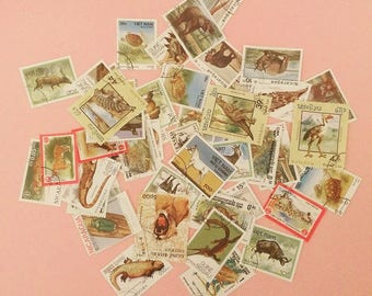 Postage stamps (16 items, used)