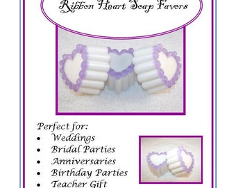 10 Heart Soaps, Wedding Heart Soap Favors, Heart Soap Favors, Valentines Party Favors, Shower or Birthday Favors