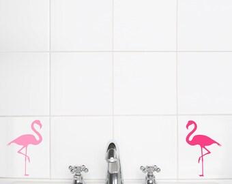 Wall Sticker Pink Flamingos