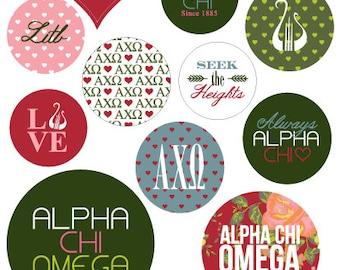 Alpha Chi Omega Stickers