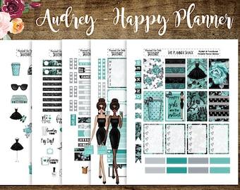 Audrey | Happy Planner | Printable Planner Stickers | Planner Printables | Cut Files | Audrey Hepburn | Tiffany | Dark Skin | Light Skin