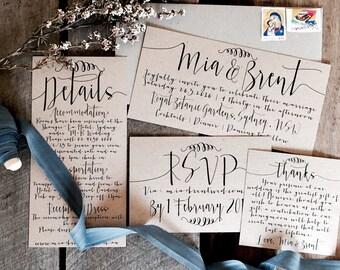 PRINTALBE Rustic Wedding Invitations, PRINTALBE Wedding Invitation Suite, PRINTABLE Wedding Invitations, Wedding Invitations, Printable File