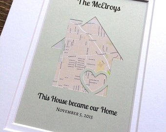 Housewarming Gift - This House Became Our Home -Personalized Map Housewarming Gift- Christmas Gift For a Family - First Home Gift - Gift for