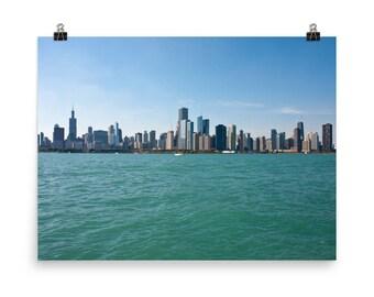 Chicago Skyline Premium Luster Photo, Chicago Lake Front Photo, Chicago from Lake Michigan Photo