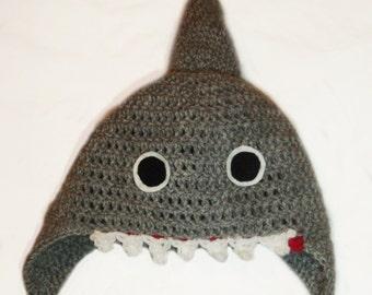 Crochet Shark Hat for children - all colours available