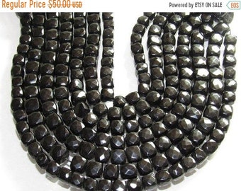 "Black Onyx Box Shape Faceted Beads Size Approx 6X6 mm Lenght Approx 9""inch New Arrival Wholesale price"