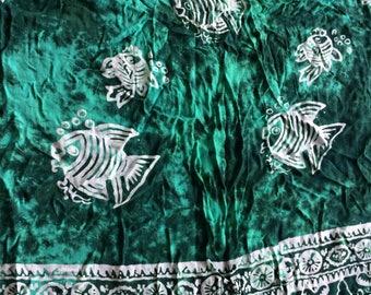 Tropical Sarong,Beach Sarong,Beach Wrap,Green Sarong,Hawaii Sarong,Beachwrap,Batik Sarong,Colorful Sarong,Swimsuit Coverup,Swimsuit Wrap,