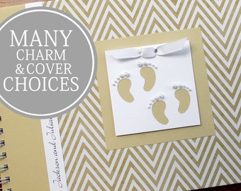 TWIN Baby Book | Twin Baby Album & Photo Book | Pregnancy Gift for Twins | Gender Neutral | Boy | Girl | Gold Chevron