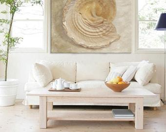 BROKEN BEAUTY fine art sea shell print, canvas gallery wrap, beach decor, wall art, home decor, interior art, coastal art