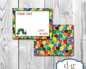 Thank You Card, Hungry Catepillar,  Birthday Thank You Card, PRINTABLE