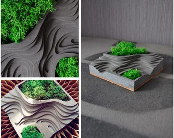 Diy CONCRETE SILICONE MOLD Cement Mould Terraces Pot Plant Geometric Home Business Market Clay Pottery Resin Casting