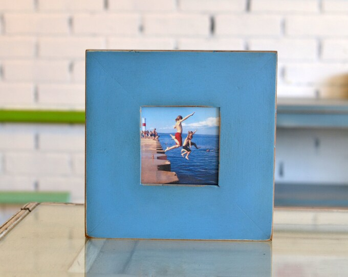 Vintage Color of Your Choice in 2.5 Wide Flat Style Choose small frame size: 3x3, 2x6, 3.5x5, 4x4, 4x5, 4x6, 5x5, 5x7, 6x6, 6x8, 7x7, 4x10