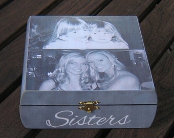 Maid of Honor Photo Collage Keepsake Box, Personalized Sister Gift, Custom Bridesmaid Memory Box, Unique Wedding Gift, Best Friend Gift