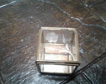Brass and glass trinket box